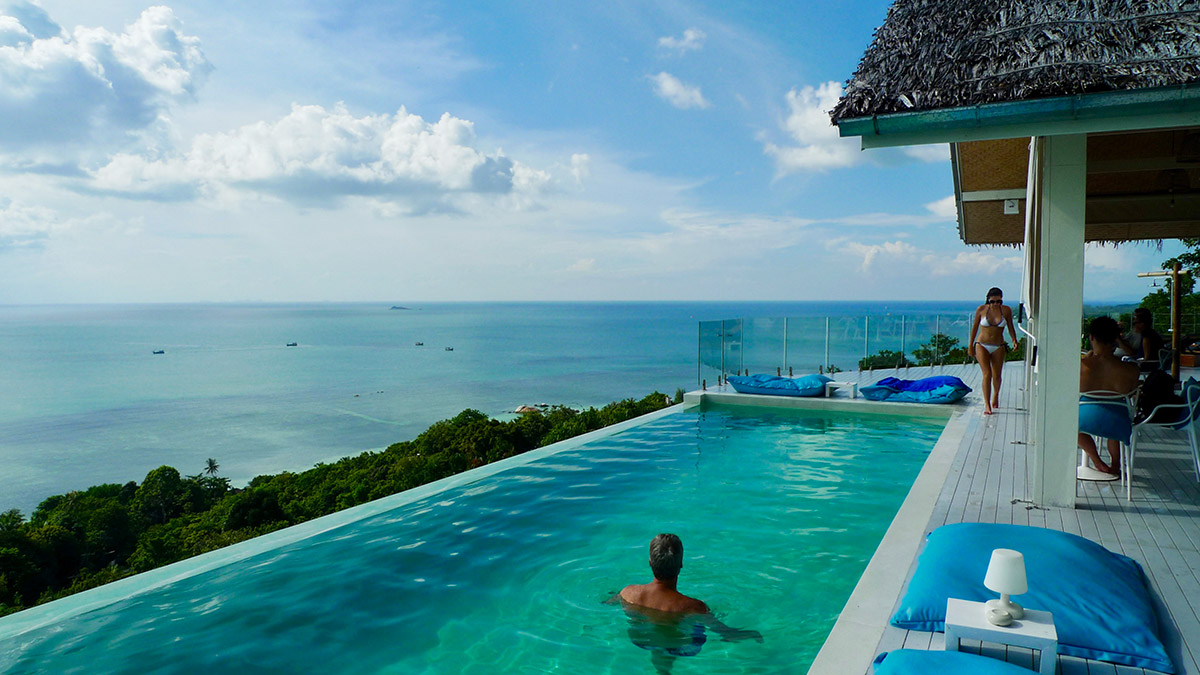 Infinity pool at Blue Rama