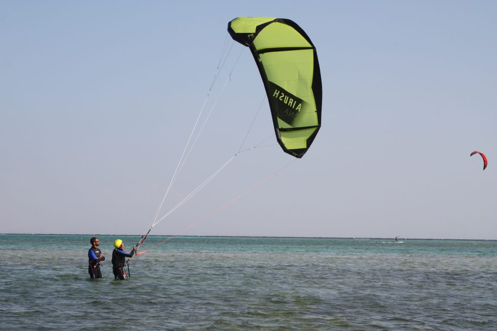 Learning kitesurfing with The Kite Bubble, Nabq bay