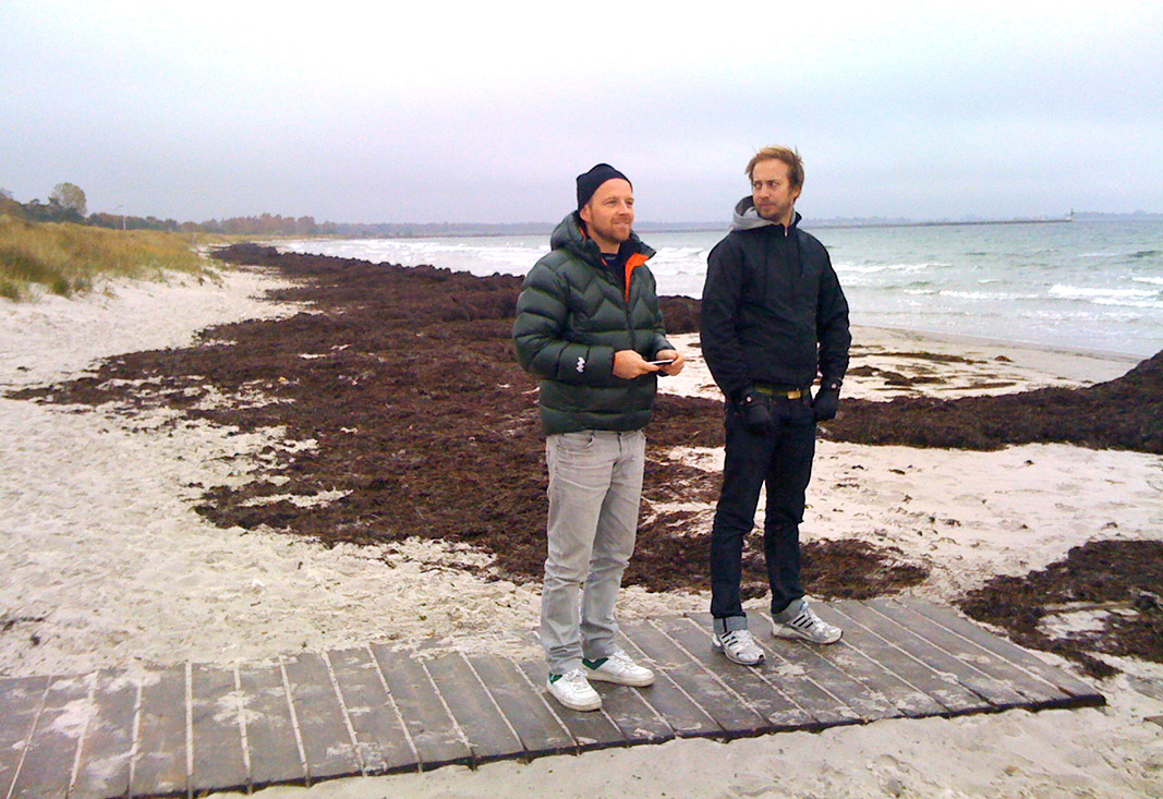 The boys checking out Falsterbo back in autumn 2009.