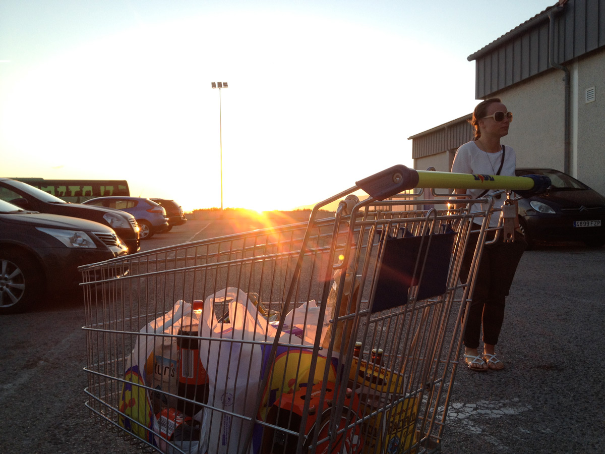 Probably the best located Lidl in the world. The sunset seen from Lidl up on the hill is amazing!