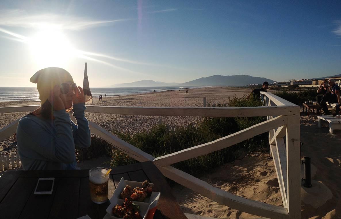 You can also surf and kitesurf at the beach that is right in Tarifa. Great after surf in the beach cafe as well.