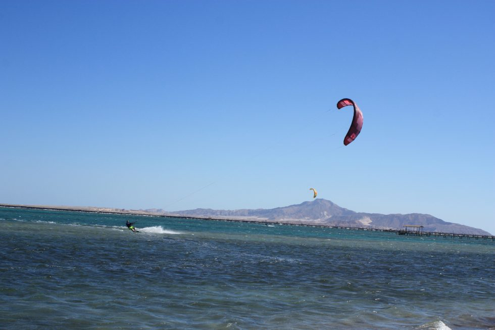 Kitesurfing in Nabq bay