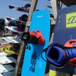 Wakestyle kite boards with boots