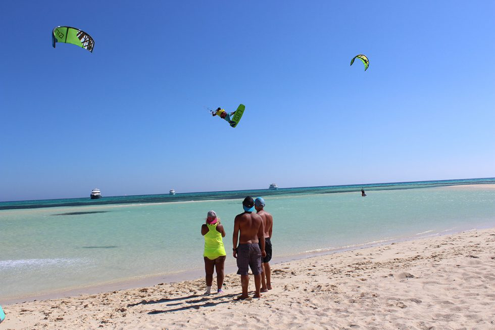 Day trips and Kite Safari's to Tawila Island; one of Egypt's most famous kitesurfing spots.