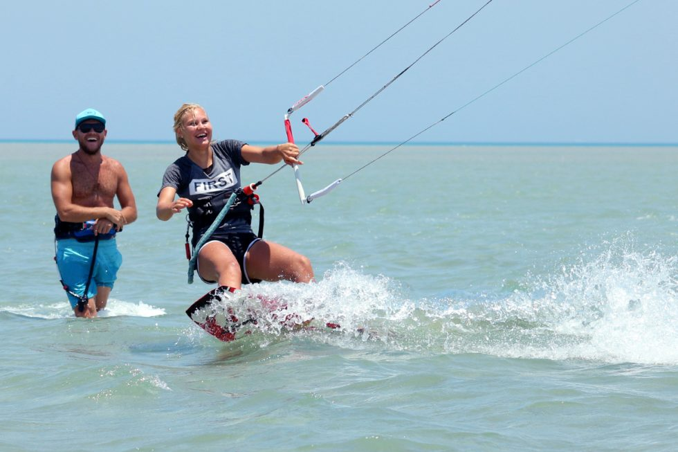 Beginner Kitesurfing Lessons with Gogo at Nomad Kite Events, El Gouna.