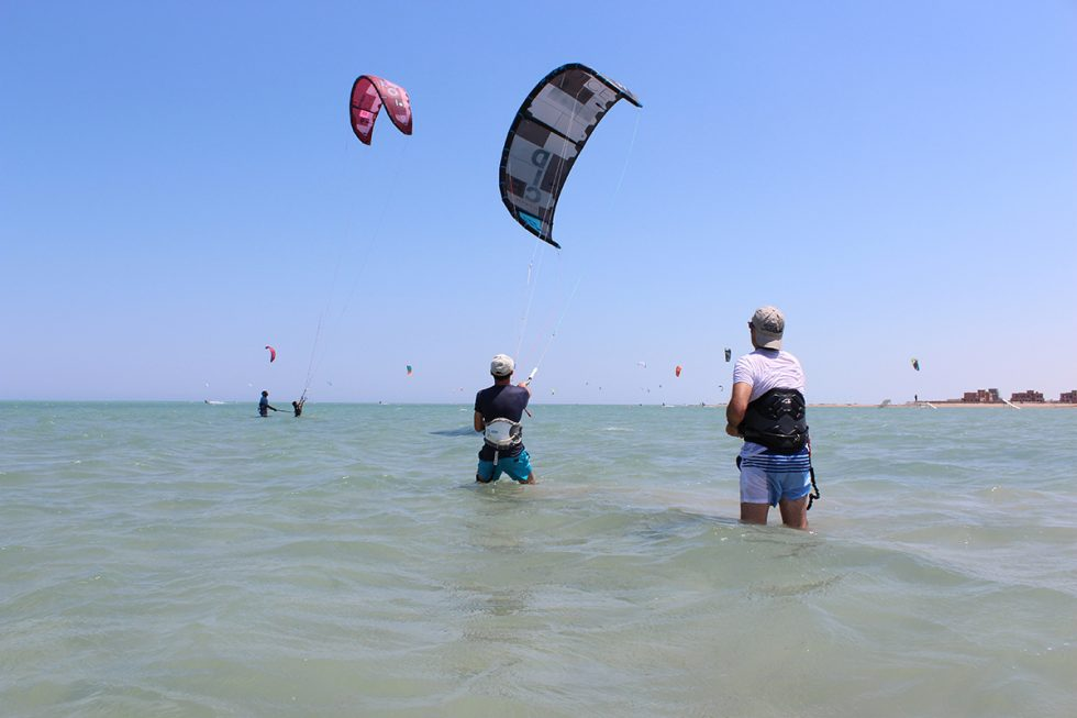 Beginners area with shallow waters. This spot is perfect for getting to grips with basic kite control and body dragging skills.
