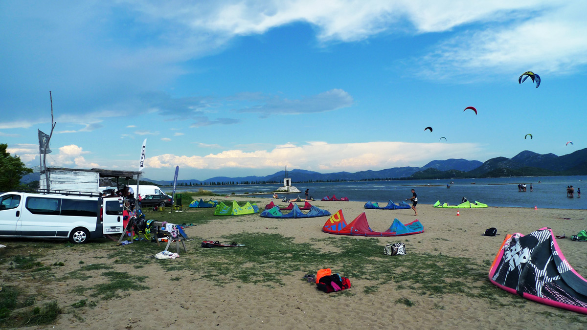 Kiteboarding Komin launch beach, Neretva Croatia