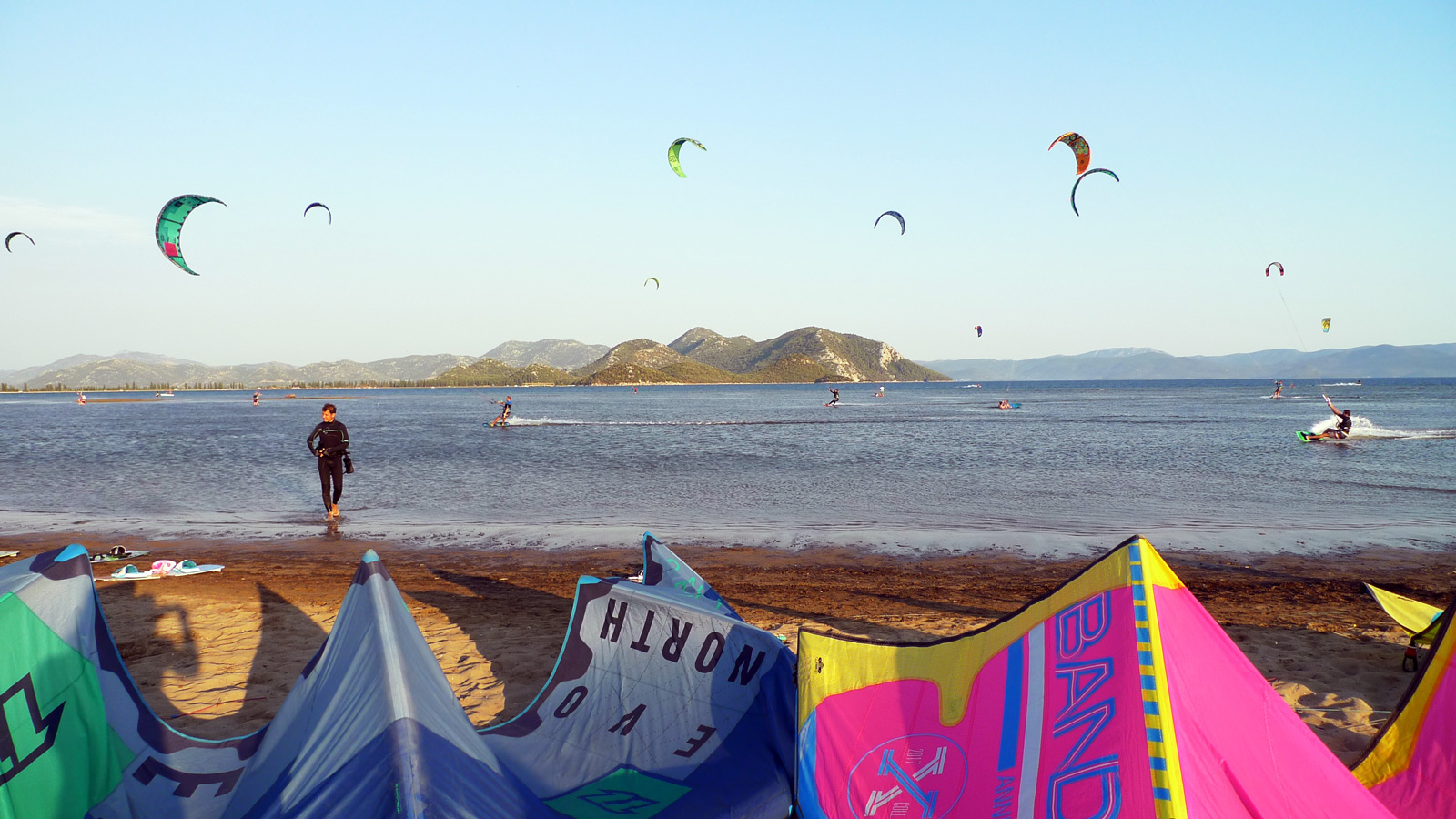 The kite spot at Kiteboarding Komin, Croatia