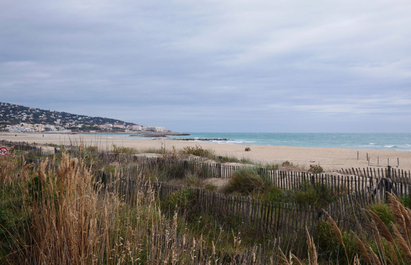Beach and sea South of Sete, France.