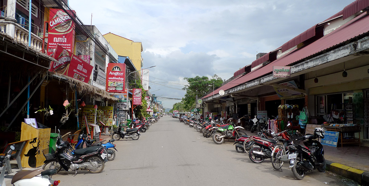 Backpacker dense area in Kampot.