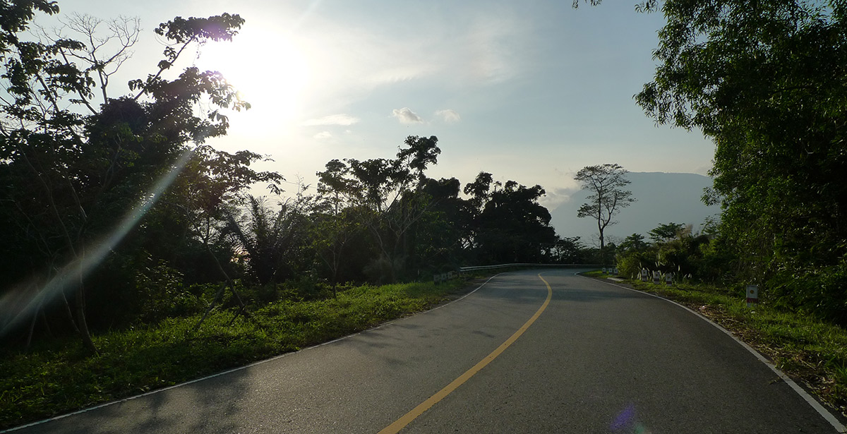 Swirling road at Bokor mountain
