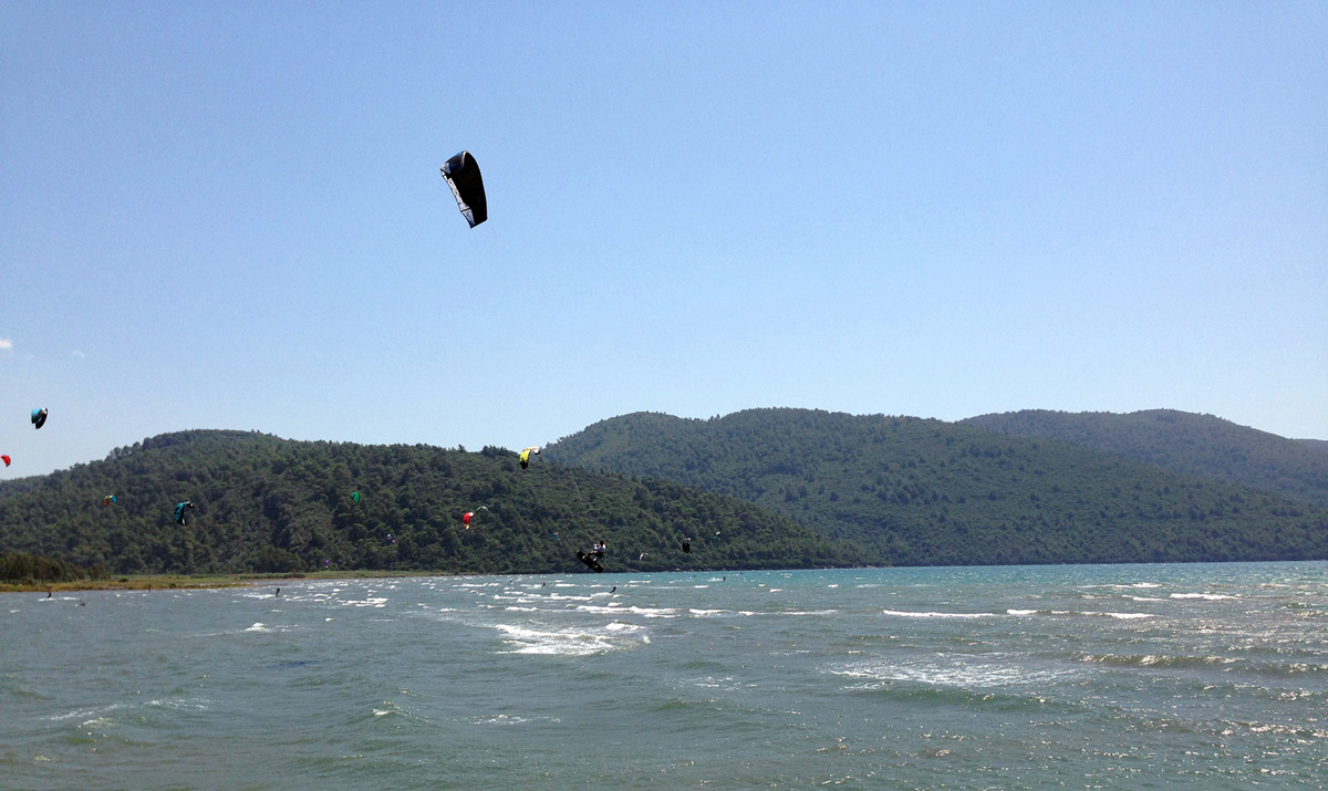 Kite spot at Akyaka