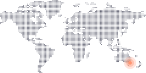 Sydney on world map