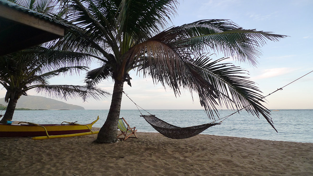Hammock on the beach at Anino resort.