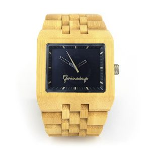 Bambu Black bamboo watch
