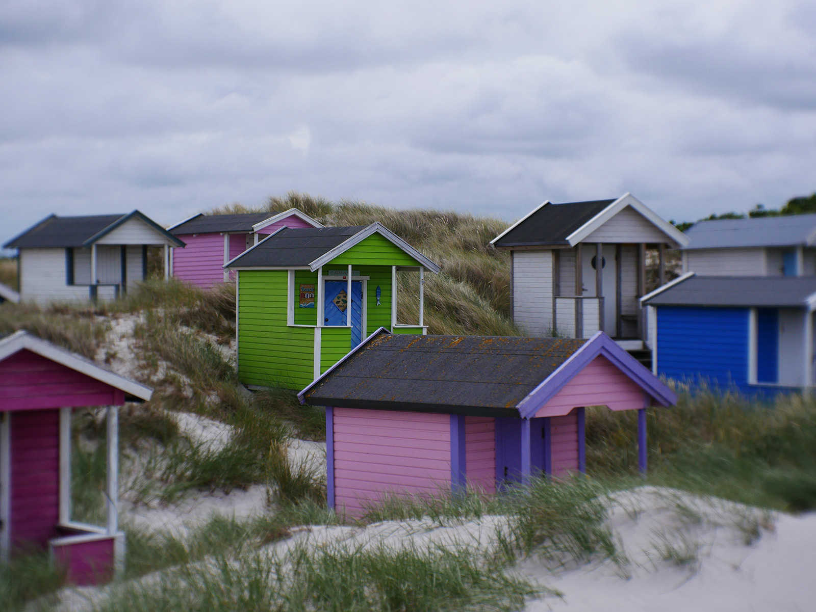 Beach huts in Skanor.