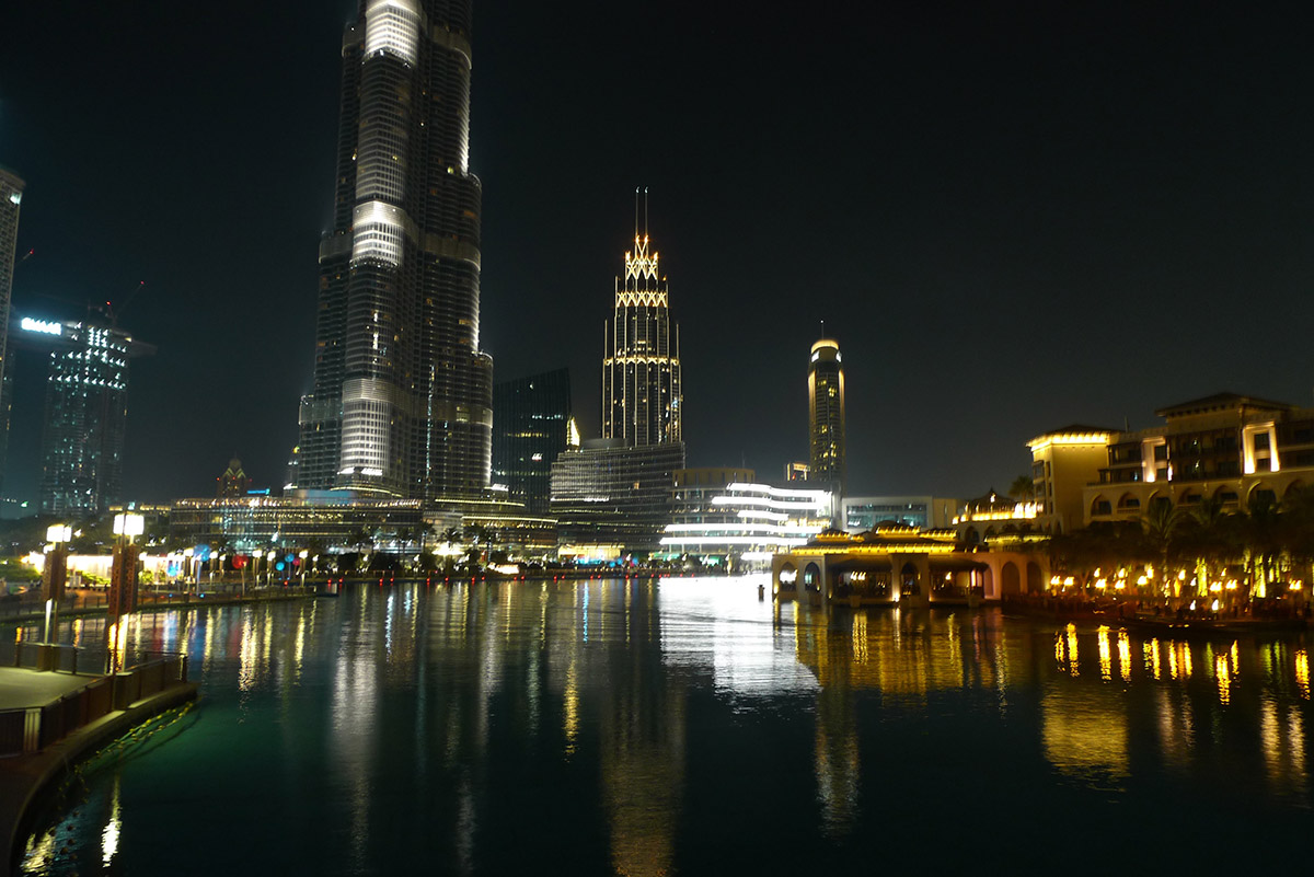Burj Khalifa and the pond