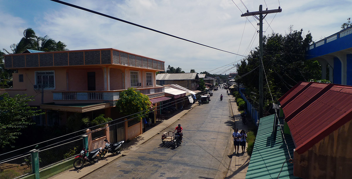 Sleepy street on Cuyo, Philippines