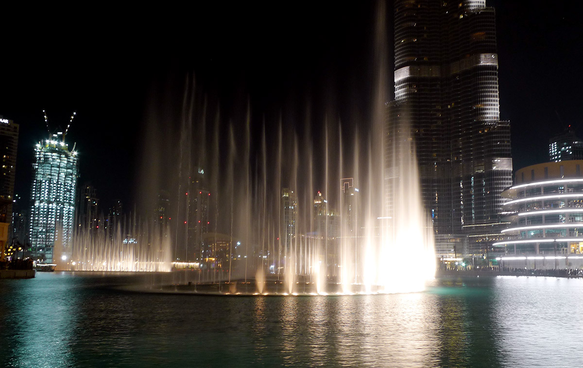 Fountain show in front of Burj Khalifa
