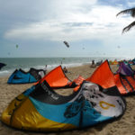 Kites on Mui Ne kite spot