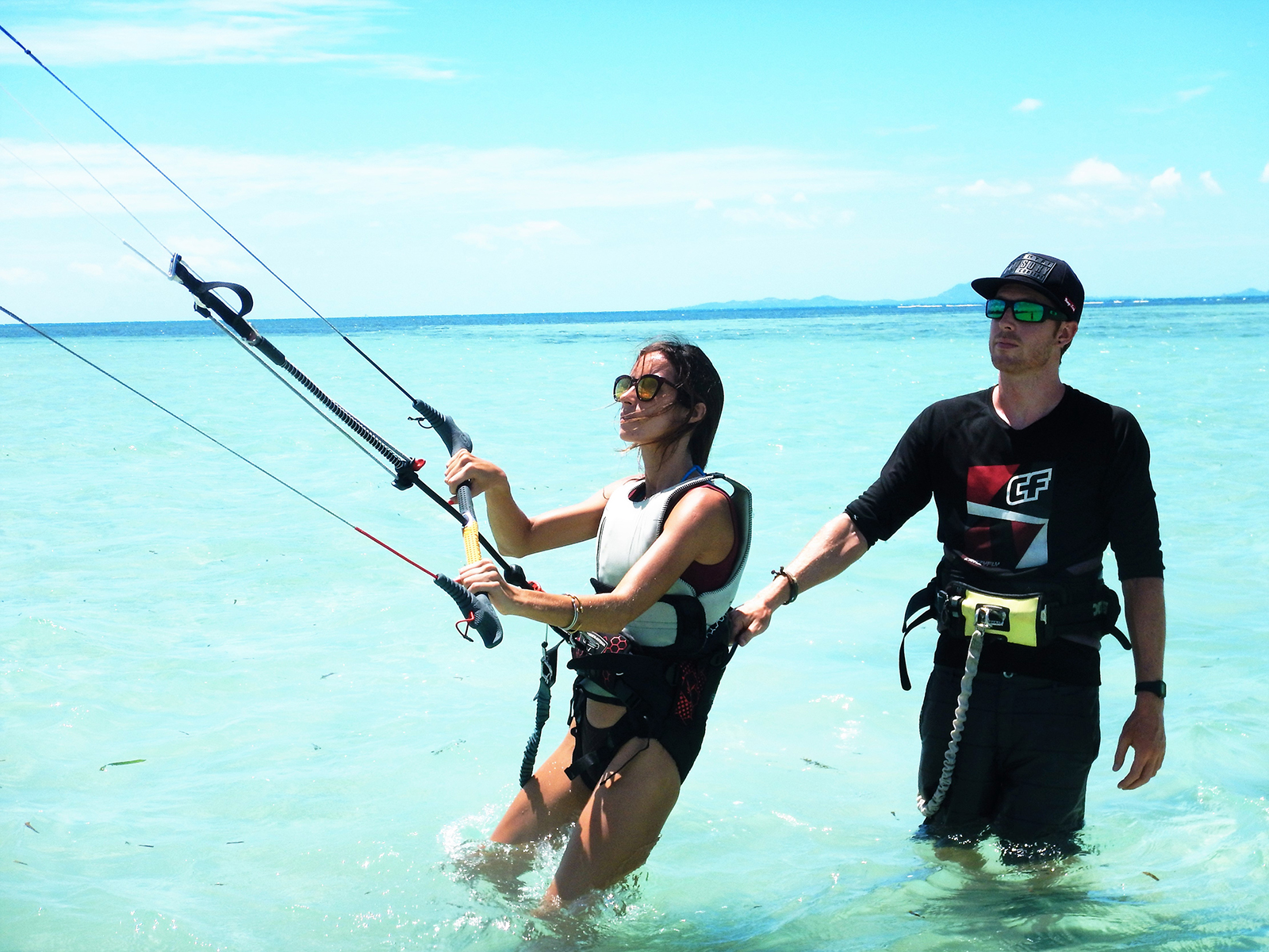 Philip teaching kitesurfing to a student