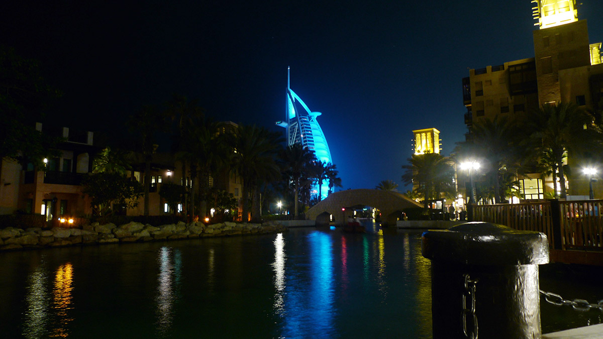 Souk Madinat and Burj Al Arab in the background