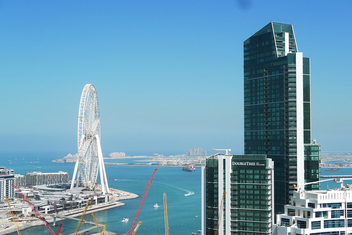 Dubai Marina and the Palm Jameirah