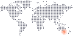 Melbourne on world map