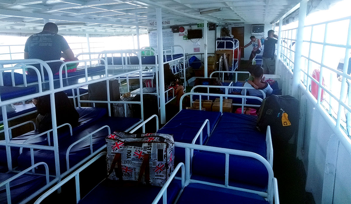 Bunk beds in the Milagrosa ferry.