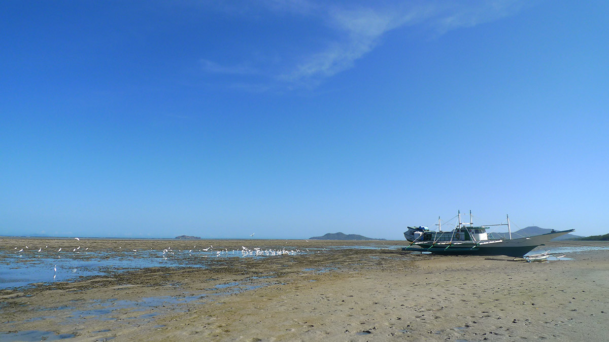 low tide beach, Capusan beach.
