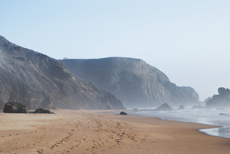 Beach in Portugal. Both surfing and kitesurfing will work here this summer.
