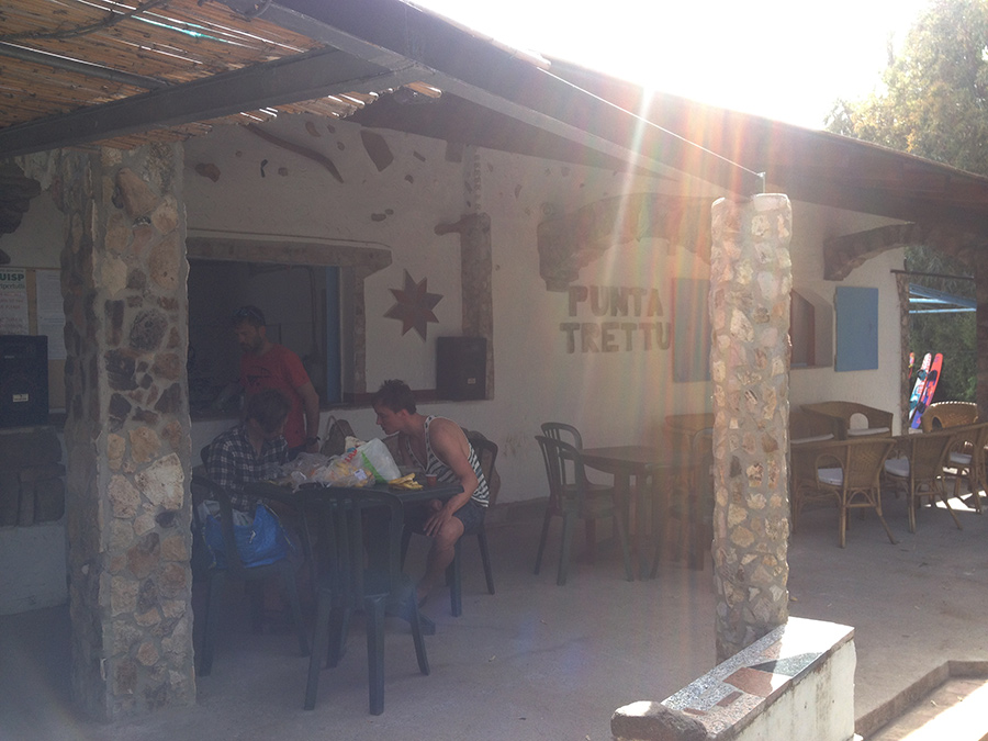 Kite Village at Punta Trettu is a charming centre.